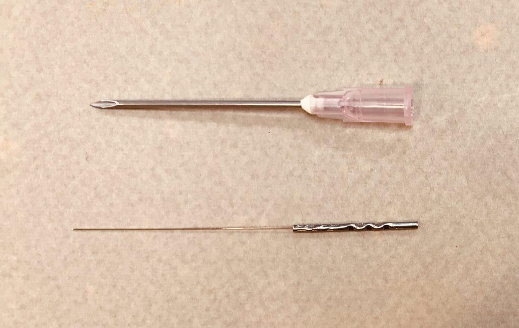 注射鍼との比較