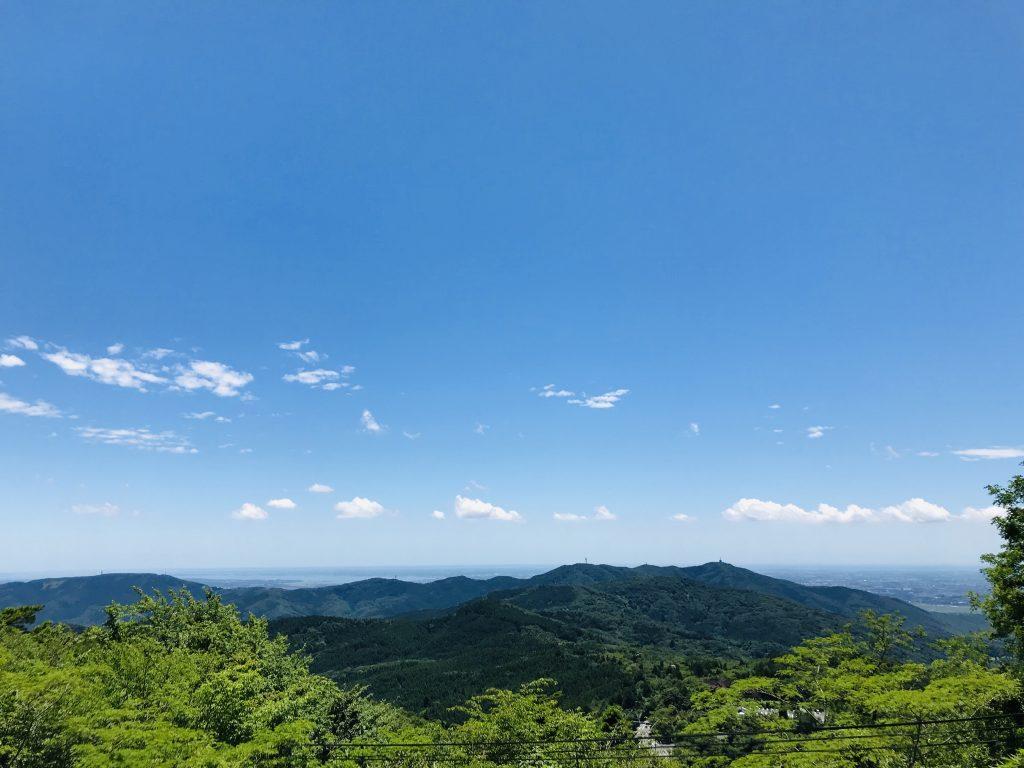筑波山より