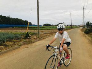 息子ロードバイクデビュー