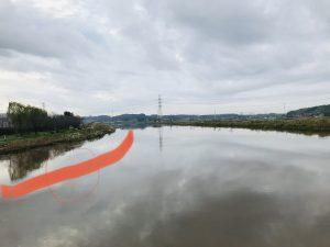 新川の増水