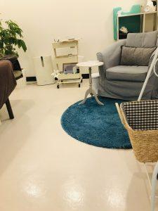 施術室の床