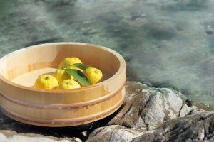 柚子とお湯